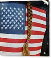 Patriotic Pony Tail Acrylic Print