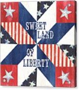 Patriotic Quilt 3 Acrylic Print