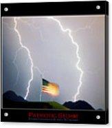 Patriotic Storm - Poster Print Acrylic Print