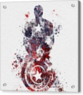 Patriotic Supersoldier Acrylic Print