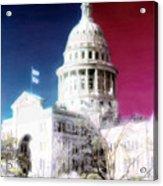 Patriotic Texas Capitol Acrylic Print