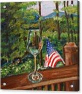 Star Spangled Wine - Fourth Of July - Blue Ridge Mountains Acrylic Print