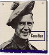 Patriotic World War 2 Poster Us Allies Canada Acrylic Print