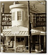 Pat's King Of Steaks - Philadelphia Acrylic Print