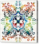 Pattern Art - Color Fusion Design 7 By Sharon Cummings Acrylic Print