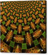 Pattern Brown With Green Acrylic Print