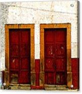 Patzcuaro Doors Acrylic Print