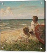 Paul Fischer, 1860-1934, Girls On The Beach Acrylic Print