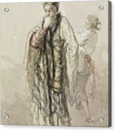 Paul Gavarni French, 1804-1866 Actors Acrylic Print