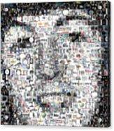 Paul McCartney Beatles Mosaic Acrylic Print