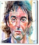 Paul McCartney young portrait Acrylic Print