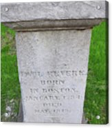 Paul Revere Grave  Acrylic Print