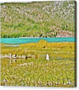 Paulina Lake Formed After Newberry Crater Erupted 1200 Years Ago In Oregon Acrylic Print
