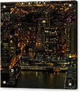 Paulus Hook, Jersey City Aerial Night View Acrylic Print