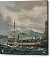 Pavel Petrovich Svinin, 1787 -1839, Steamboat Travel On The Hudson River Acrylic Print