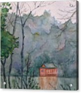 Pavilion At River's Edge China Acrylic Print
