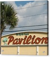 Pavilion With Palm Acrylic Print