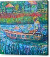 Pawleys Island Fisherman Acrylic Print