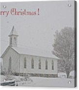 Pawpaw Church Christmas Acrylic Print
