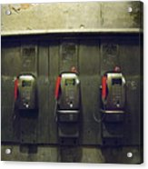 Pay Phones In Alley, Venice Acrylic Print