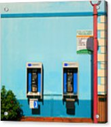 Pay Phones Acrylic Print