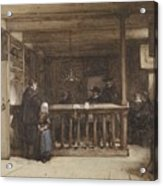 Payday, The Ships Room Right House Nieuw-loosdrecht, Furnished With Seventeenth-century Figures, Joh Acrylic Print