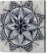 Paynes Gray Mandala2 Acrylic Print