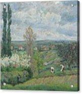 Paysage D'ile De France By Armand Guillaumin Acrylic Print