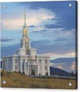 Payson Temple At Dusk Acrylic Print