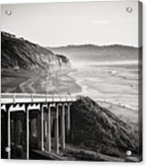 Pch Scenic In Black And White Acrylic Print