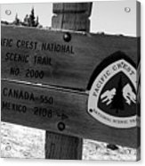 Pct Scenic Trail Acrylic Print