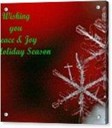 Peace And Joy Christmas Card Two Acrylic Print