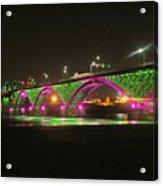 Peace Bridge At Night Acrylic Print