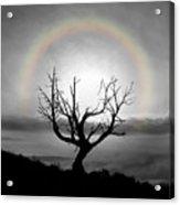 Peace Faith Hope Rainbow Acrylic Print