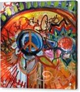 Peace Flower Acrylic Print
