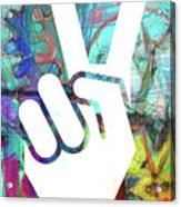 Peace Hand Sign 1  Acrylic Print