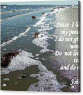 Peace I Leave You Acrylic Print by Sheri McLeroy
