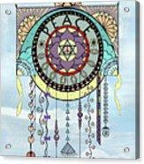Peace Kite Dangle Illustration Art Acrylic Print