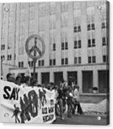 Peace March 1986 Acrylic Print