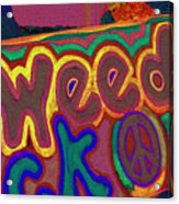 Peace Of Weed Acrylic Print