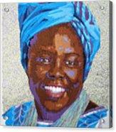 Peace Portrait Three Wangari Maathai Acrylic Print