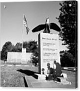 Peace Through Strength - Veterans War Memorial Acrylic Print