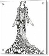 Peace Woman Wild Ink Acrylic Print