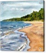 Peaceful Beach At Pier Cove Ll Acrylic Print