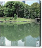 Peaceful Bridge In Tokyo Park Acrylic Print