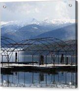 Peaceful Docks At Priest Lake Acrylic Print