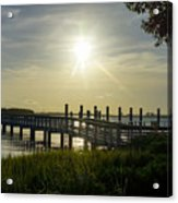 Peaceful Evening At Cooper River Acrylic Print