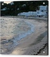 Peaceful Evening On Dawn Beach Acrylic Print