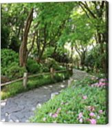 Peaceful Garden Path Acrylic Print