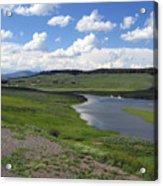 Peaceful Lake at Yellowstone Acrylic Print